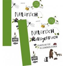 NATÜRLICH KALLIGRAFISCH - Kreativset mit Anleitung, Stift und Papier