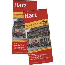 "MOTORRADKARTE ""HARZ"" , MAßSTAB 1:150.000, GPS-TRACKS-DOWNLOAD"