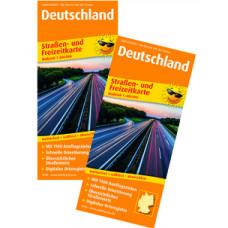 """""""DEUTSCHLAND"""" STRAßEN- UND FREIZEITKARTE, MAßSTAB 1:850.000"""