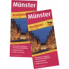 """""""MÜNSTER"""" STADTPLAN, MAßSTAB 1:16.000, MIT STRAßENVERZEICHNIS"""