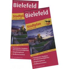 """""""BIELEFELD"""" STADTPLAN, MAßSTAB 1:16.000,  MIT STRAßENVERZEICHNIS"""