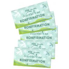 Für einen Wunsch zur Konfirmation - Umschlag für ein Geldgeschenk