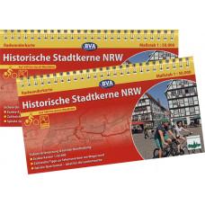 """RADWANDERKARTE MIT SPIRALBINDUNG """"HISTORISCHE STADTKERNE NRW"""""""